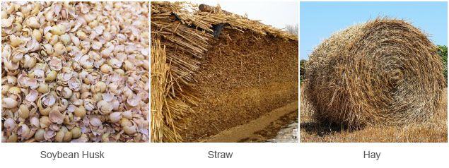 soybean husk, straw and hay for animal feed production line