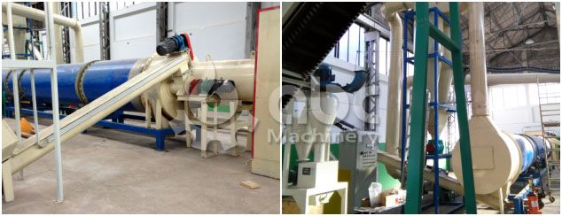 wood pellet plant drying process