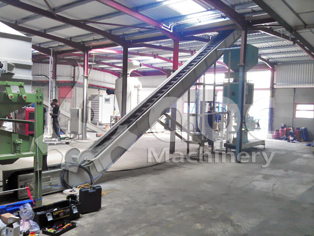 wood pellet production cooling and packaging machienry
