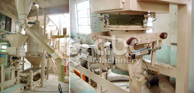 wood pellets bagging machine