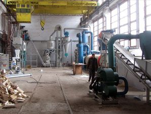 1TPH Wood Pellets Manufacturing Process in Bulgaria