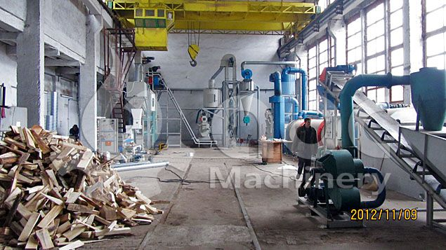 wood pellets manufacturing plant designed for small scale production line