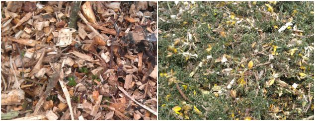 wood wastes, leaves and grass for pellet production